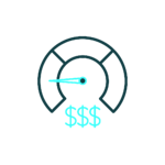 Reducing costs icon