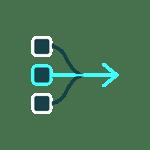 Consolidate data icon